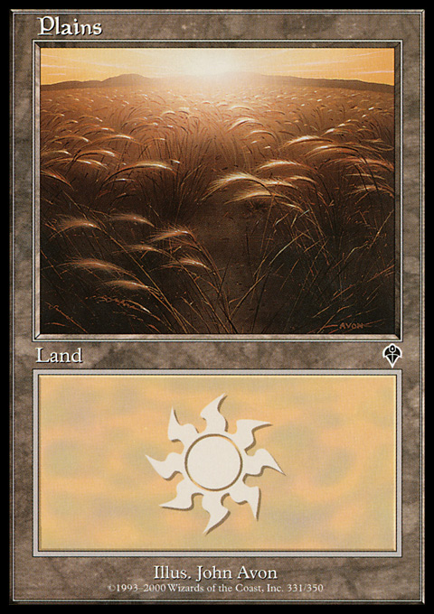 Plains (331) card from Invasion