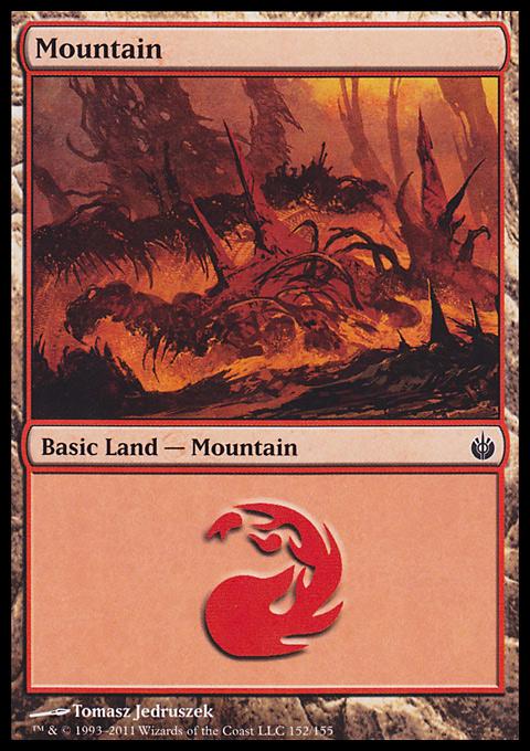 Mountain (152)  card from Mirrodin Besieged