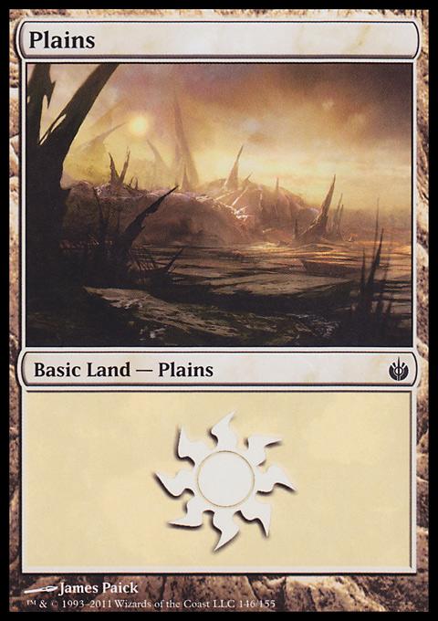 Plains (146)  card from Mirrodin Besieged