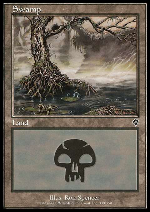 Swamp (339) card from Invasion