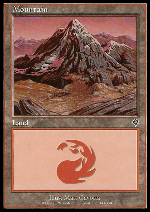 Mountain (343) card from Invasion