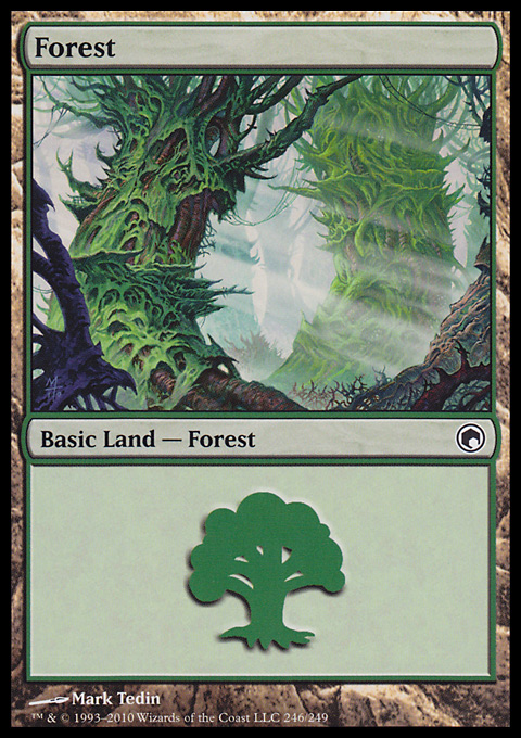 Forest (246) card from Scars of Mirrodin