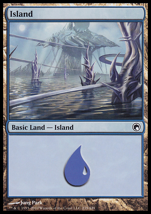 Island (235)  card from Scars of Mirrodin