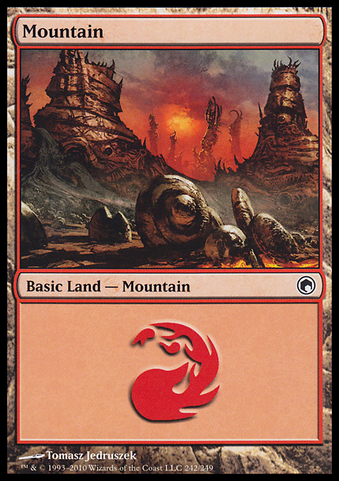 Mountain (242)  card from Scars of Mirrodin