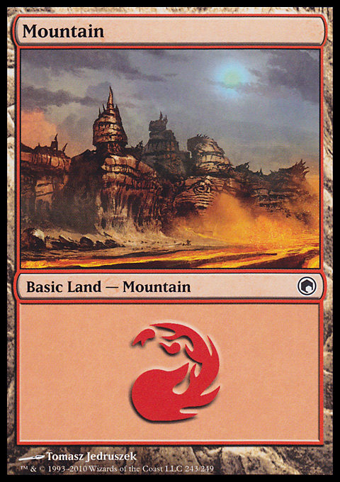 Mountain (243)  card from Scars of Mirrodin