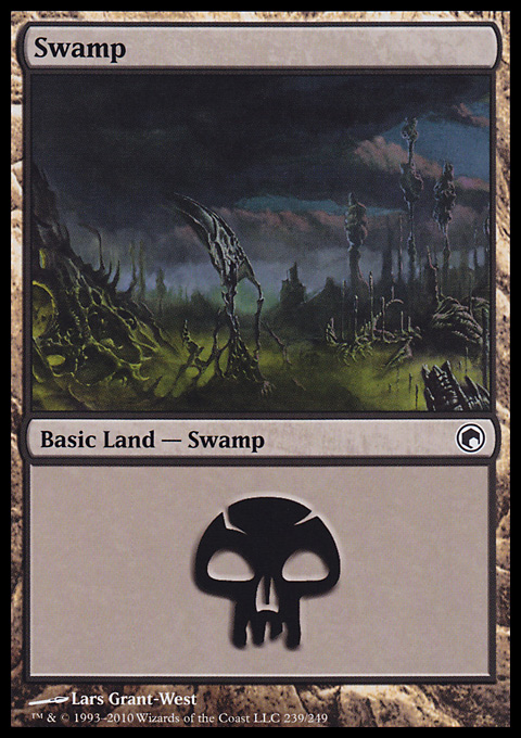 Swamp (239)  card from Scars of Mirrodin