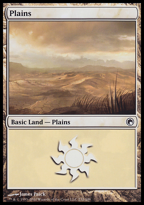 Plains (232)  card from Scars of Mirrodin
