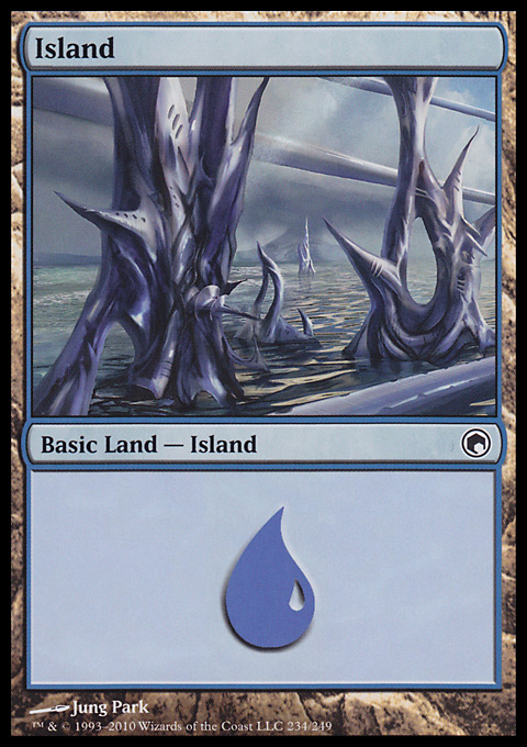 Island (234)  card from Scars of Mirrodin