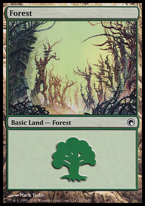 Forest (247) card from Scars of Mirrodin