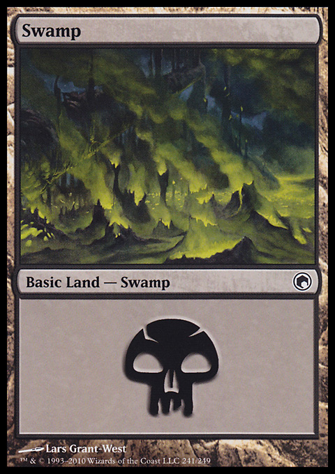 Swamp (241)  card from Scars of Mirrodin