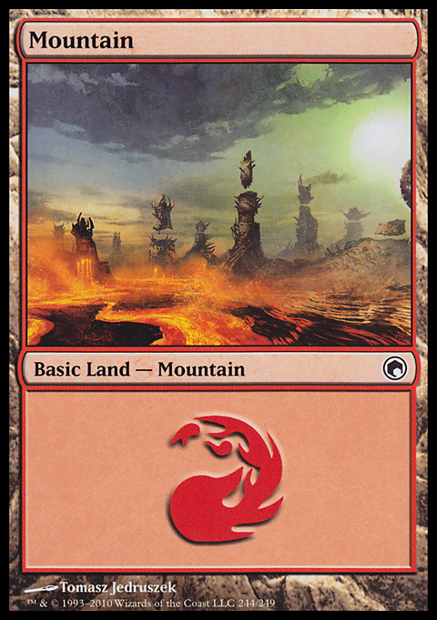 Mountain (244)  card from Scars of Mirrodin