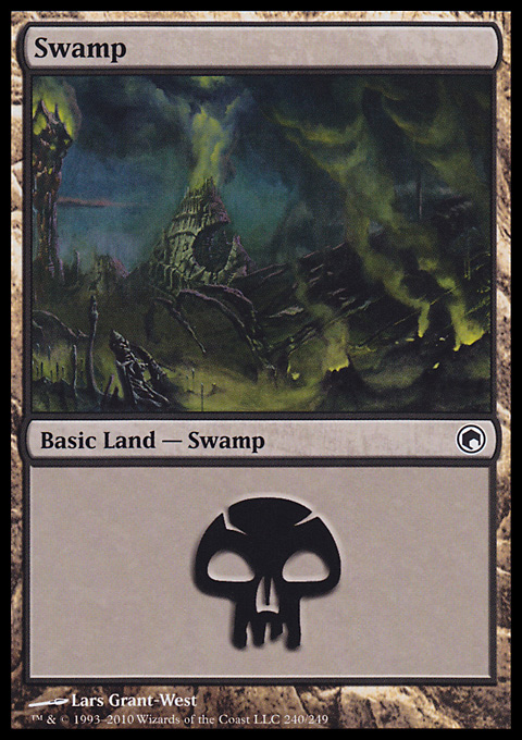 Swamp (240)  card from Scars of Mirrodin