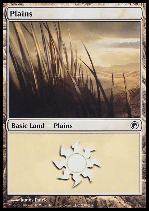 Plains (230)  card from Scars of Mirrodin