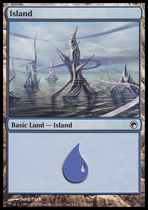 Island (236)  card from Scars of Mirrodin