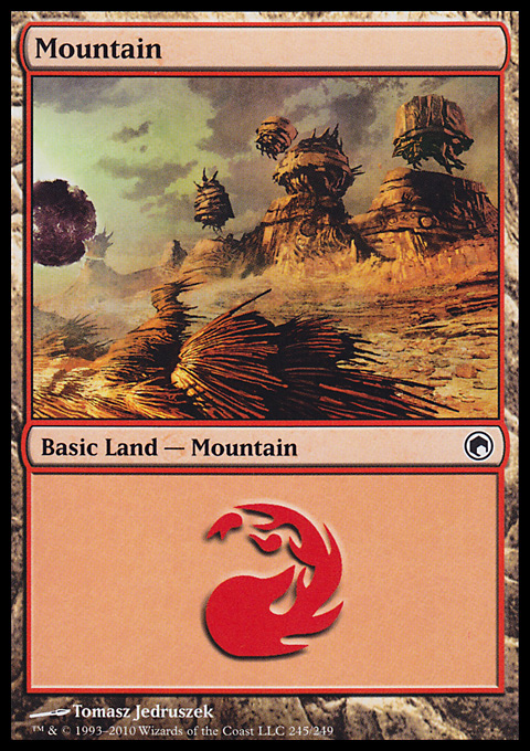 Mountain (245)  card from Scars of Mirrodin