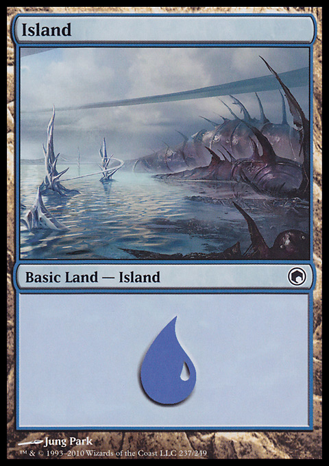 Island (237)  card from Scars of Mirrodin