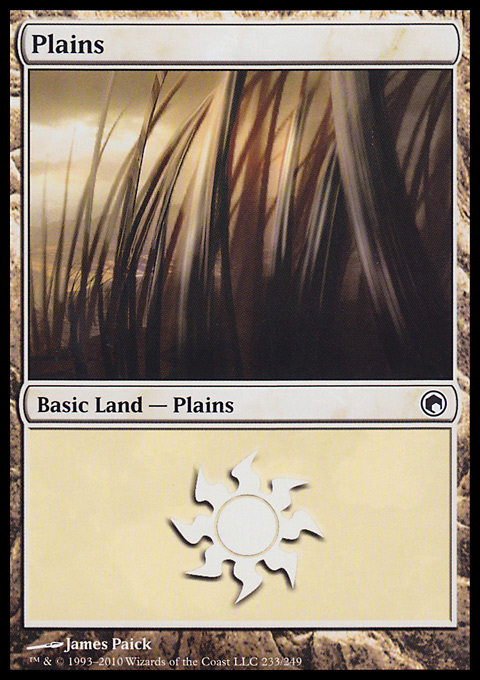 Plains (233)  card from Scars of Mirrodin