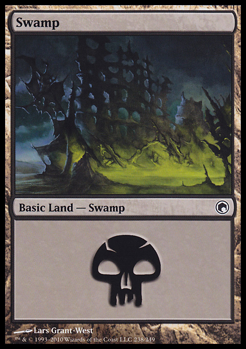 Swamp (238)  card from Scars of Mirrodin