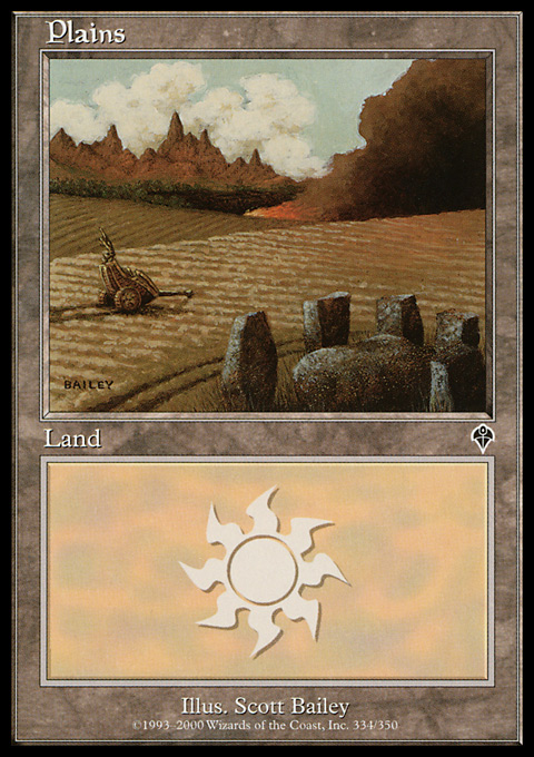 Plains (334) card from Invasion