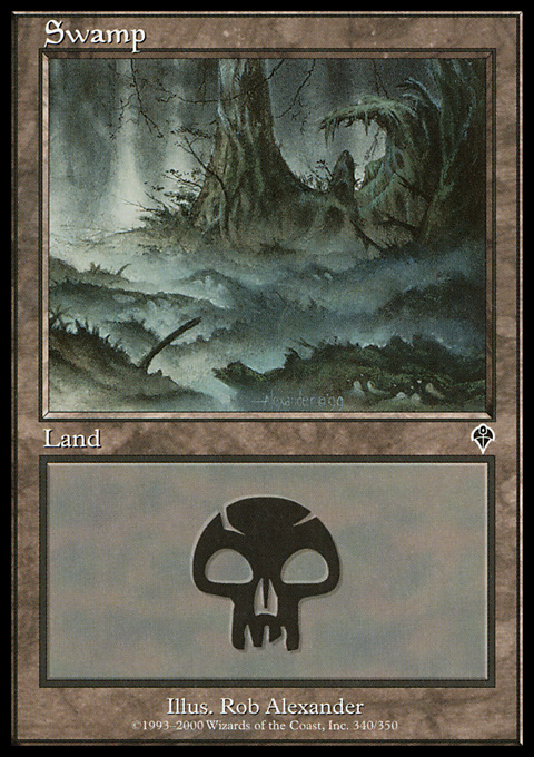 Swamp (340) card from Invasion