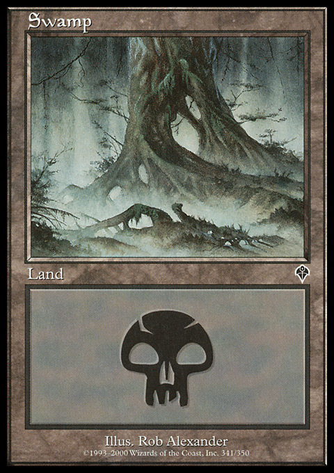 Swamp (341) card from Invasion