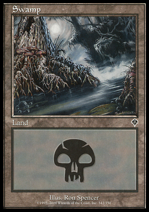 Swamp (342) card from Invasion