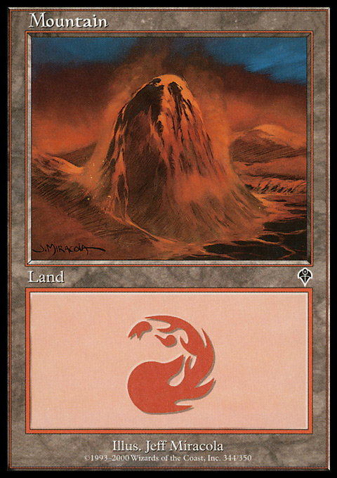 Mountain (344) card from Invasion