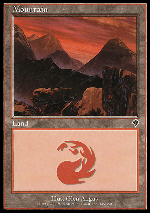 Mountain (345) card from Invasion
