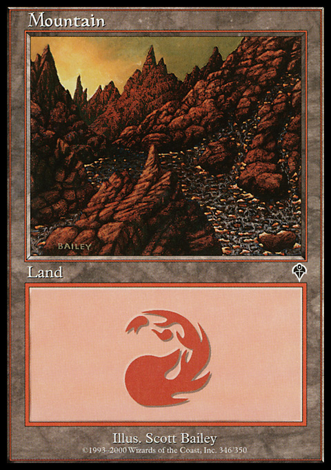 Mountain (346) card from Invasion