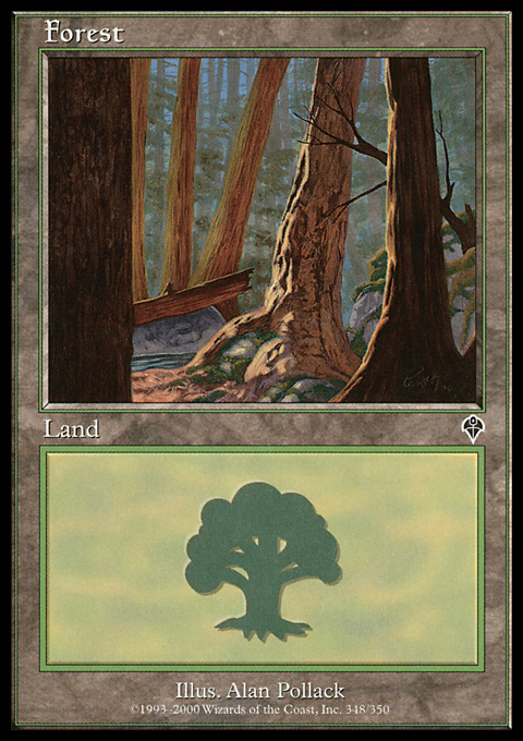 Forest (348) card from Invasion