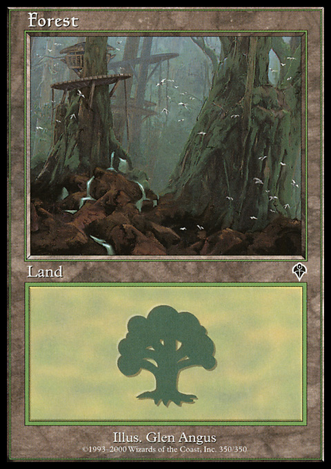 Forest (350) card from Invasion