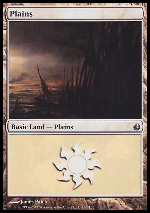 Plains (147)  card from Mirrodin Besieged