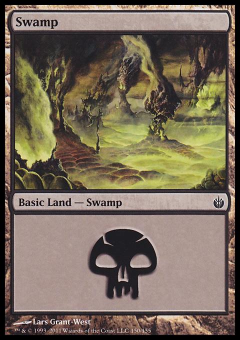 Swamp (150)  card from Mirrodin Besieged