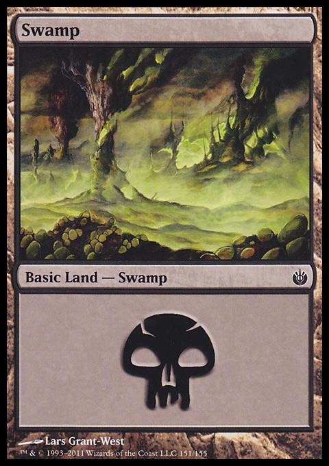 Swamp (151)  card from Mirrodin Besieged