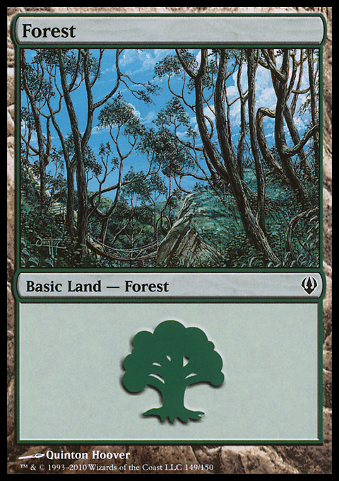 Forest (149)  card from Archenemy