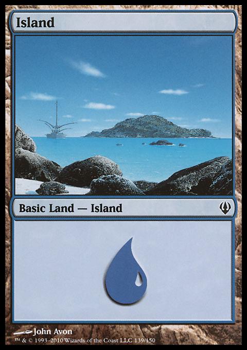 Island (139)  card from Archenemy
