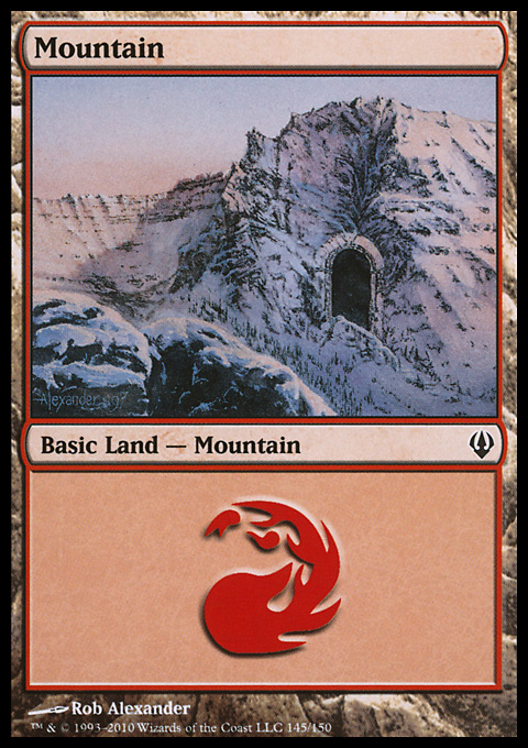 Mountain (145)  card from Archenemy