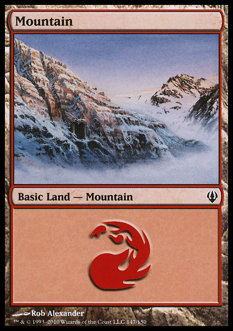 Mountain (147)  card from Archenemy