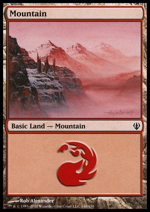 Mountain (146)  card from Archenemy