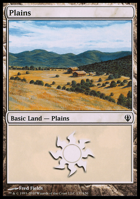 Plains (137)  card from Archenemy