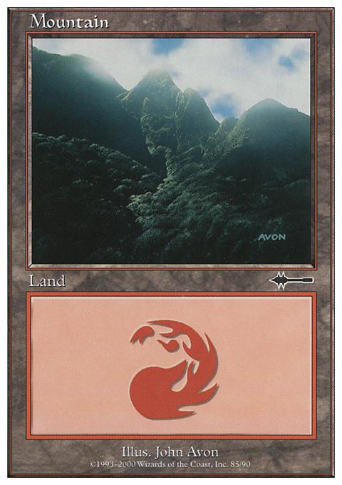 Mountain (85) card from Beatdown Box Set