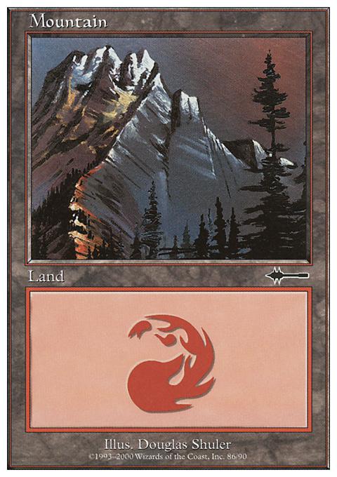 Mountain (86) card from Beatdown Box Set