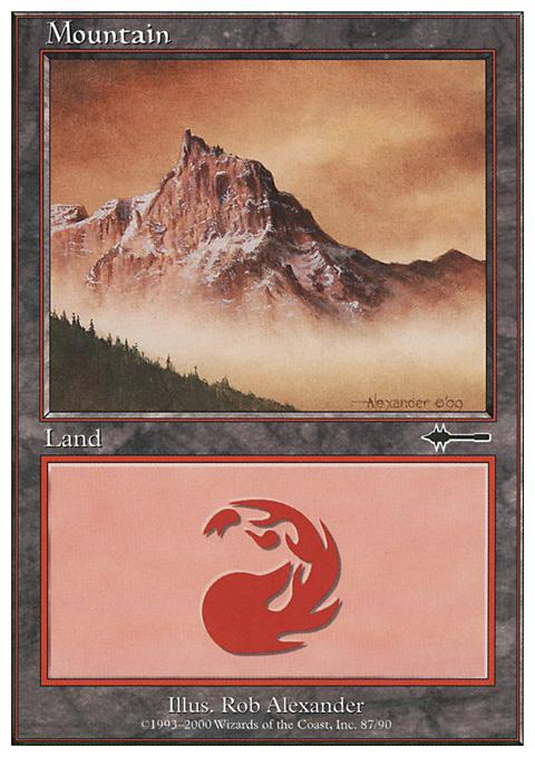 Mountain (87) card from Beatdown Box Set
