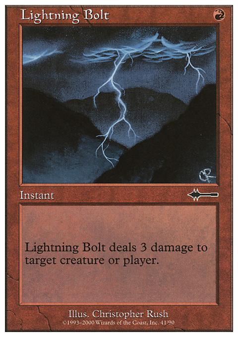 Lightning Bolt card from Beatdown Box Set