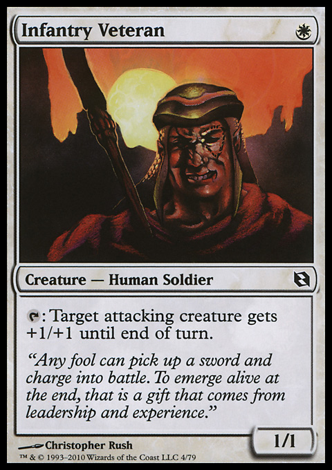 Infantry Veteran card from Duel Decks: Elspeth vs. Tezzeret