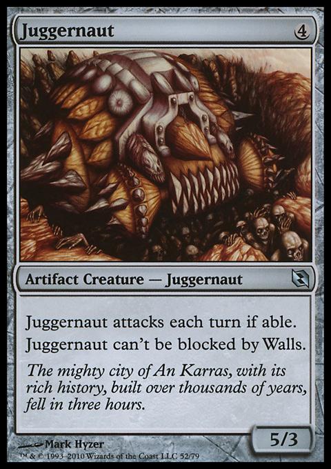 Juggernaut card from Duel Decks: Elspeth vs. Tezzeret