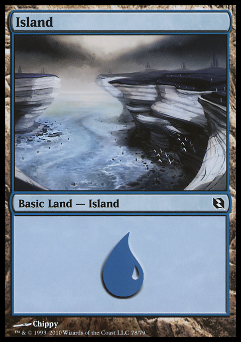 Island (78)  card from Duel Decks: Elspeth vs. Tezzeret