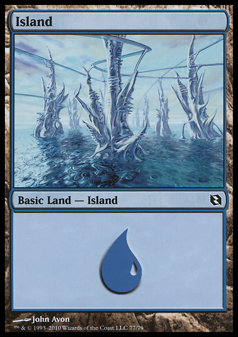 Island (77)  card from Duel Decks: Elspeth vs. Tezzeret