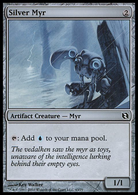 Silver Myr card from Duel Decks: Elspeth vs. Tezzeret
