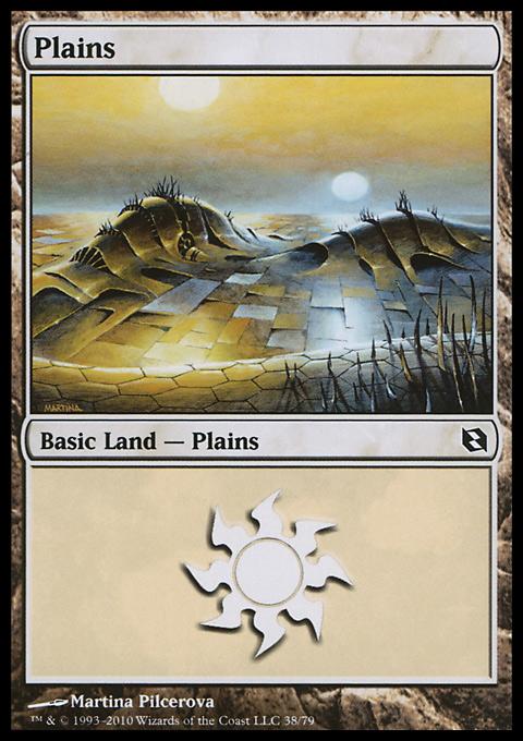 Plains (38)  card from Duel Decks: Elspeth vs. Tezzeret